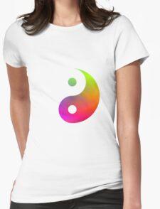 Rainbow Yin Yang  Womens Fitted T-Shirt