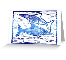 A duet of Ichthyosaurs Greeting Card