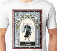 ST RAPHAEL THE ARCHANGEL under STAINED GLASS Unisex T-Shirt