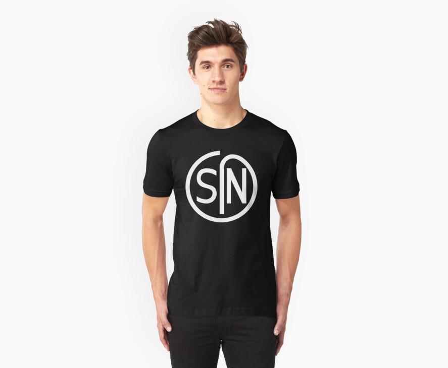 NJS SIN T-Shirt White Print by JDMST