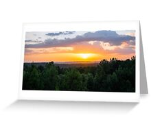 Vibrant Colors Over the Valley Greeting Card