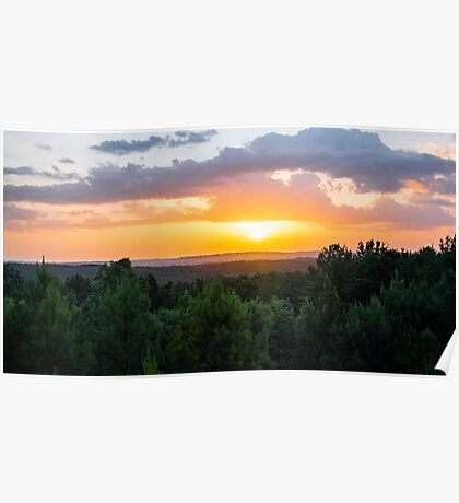 Vibrant Colors Over the Valley Poster