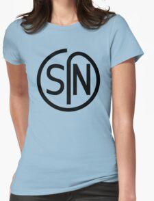 NJS SIN T-Shirt Black Print Womens Fitted T-Shirt