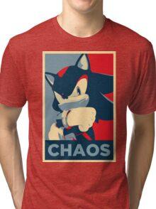 Shadow the Hedgehog (Obama Hope Poster Parody) Tri-blend T-Shirt