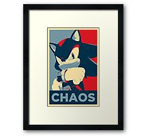 Shadow the Hedgehog (Obama Hope Poster Parody) Framed Print