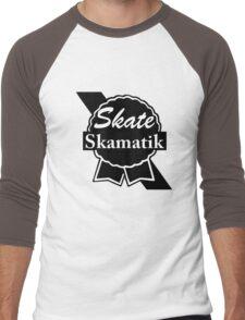 Skate Ribbon  Men's Baseball ¾ T-Shirt