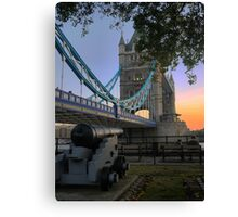 Canon at the Tower Canvas Print