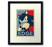 Shadow the Hedgehog 2 (Obama Hope Poster Parody) [EDGY] Framed Print