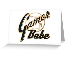 SF Giants Gamer Babe Greeting Card