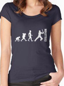 Evolution - Cricket (design 2) Women's Fitted Scoop T-Shirt