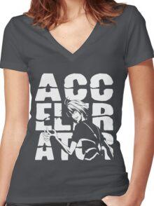 ACCELERATOR Women's Fitted V-Neck T-Shirt