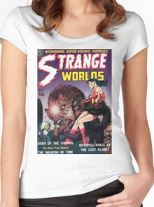 Strange Worlds - Kings of the Lost Planet - Comic Art Women's Fitted Scoop T-Shirt
