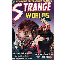 Strange Worlds - Kings of the Lost Planet - Comic Art Photographic Print