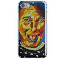 Robbin Williams acrylic on paper iPhone Case/Skin