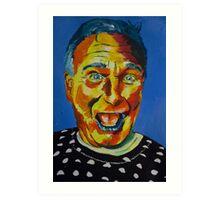 Robbin Williams acrylic on paper Art Print