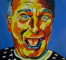 Robbin Williams acrylic on paper by Sarah Horsman