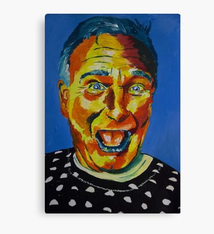 Robbin Williams acrylic on paper Canvas Print