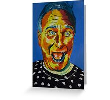 Robbin Williams acrylic on paper Greeting Card