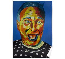 Robbin Williams acrylic on paper Poster