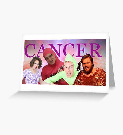 iDubbbz, Filthy Frank (Joji), MaxMoeFoe, Anything4Views CANCER Greeting Card