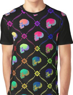Colorful Skull Pattern Graphic T-Shirt