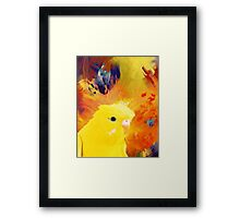 abstract yellow bird Framed Print