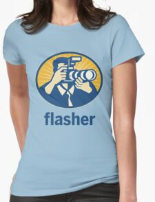 Flasher Womens Fitted T-Shirt