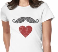 Moustache lovers Womens Fitted T-Shirt