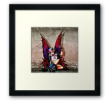 Punk Fairy with background Framed Print