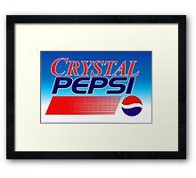 Crystal Pepsi Vaporwave Framed Print