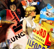 The Sandow Bauhaus Trocadero Vaudevilles. Sticker