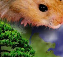 Happy Arbor Day Hamster Sticker