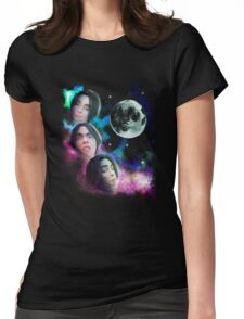 Three Chinigan Moon Womens Fitted T-Shirt