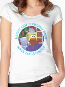 Happy Leif Erikson Day! Women's Fitted Scoop T-Shirt