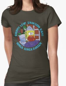 Happy Leif Erikson Day! Womens Fitted T-Shirt