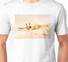 Closeup of Crab digging a hole in the sand Unisex T-Shirt