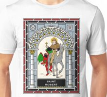 ST ROBERT THE ABBOT under STAINED GLASS Unisex T-Shirt
