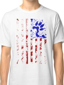 Paws & Stripes - Full Length T-Shirt (Red & Blue) Classic T-Shirt