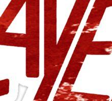 SLAYER Metal Band Logo Blood Spatter Sticker