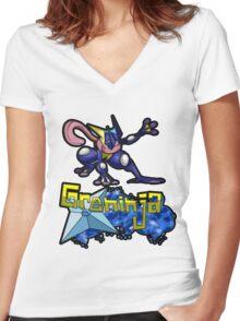 Greninja Pokemon Tee Women's Fitted V-Neck T-Shirt