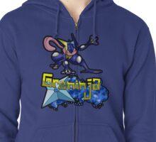 Greninja Pokemon Tee Zipped Hoodie