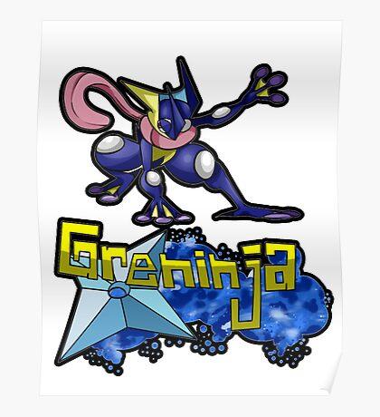 Greninja Pokemon Tee Poster