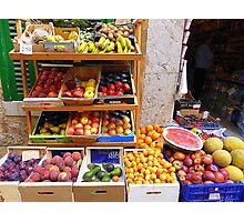 The Fruit And Vegetable Shop Photographic Print