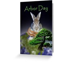 Arbor Day Bunny Rabbit Greeting Card