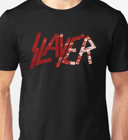 SLAYER Metal Band Logo Blood Spatter BLACK Unisex T-Shirt