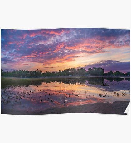 Sunset at Beach Poster