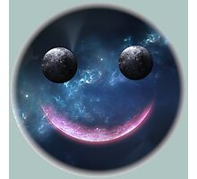 Smiley Face Galaxy. VividScene Photographic Print