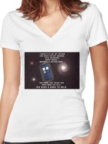 Doctor Who You need a hand to hold Women's Fitted V-Neck T-Shirt