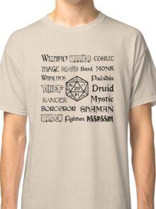 RPG Classes Classic T-Shirt