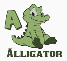 A is for Alligator  One Piece - Short Sleeve